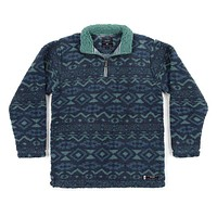 Appalachian Peak Sherpa Pullover in Slate and Mint by Southern Marsh