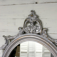 Large Antique Ornate Mirror - Distressed Mirror - Shabby Chic - Victorian Chic - Vintage Mirror - Baroque Mirror - Cottage Chic - Farmhouse
