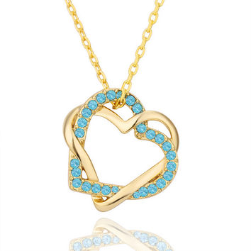 Cross Heart Gold Plated Necklace