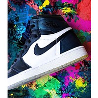 Nike Air Jordan AJ1 Chameleon High-Top Casual Sports Basketball Shoe