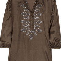 DAY Birger et Mikkelsen | Day Safari embroidered silk tunic | NET-A-PORTER.COM