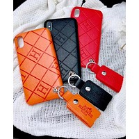 Hermes Trending Headset Package Stylish iPhone Phone Cover Case For iphone 6 6s 6plus 6s-plus 7 7plus 8 8plus X (3-Color) I12267-1