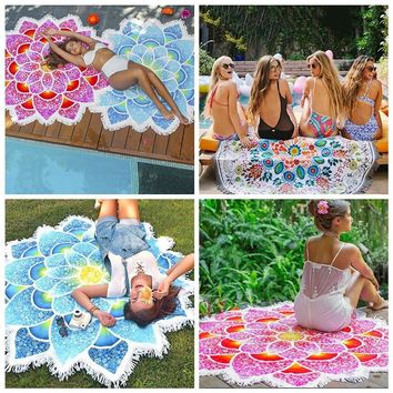 1pcs Fashion Tapestry Wall Hanging Mandala Blanket Irregular Summer Wrapped Skirt Beach Towel