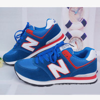 New balance abric is breathable n leisure sports Couples forrest gump running Blue-red