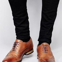 ASOS | ASOS Brogue Shoes With Colored Tread at ASOS