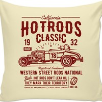 Cali Hot Rods Couch Pillow