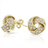 Bling Jewelry Nicest Knot Studs