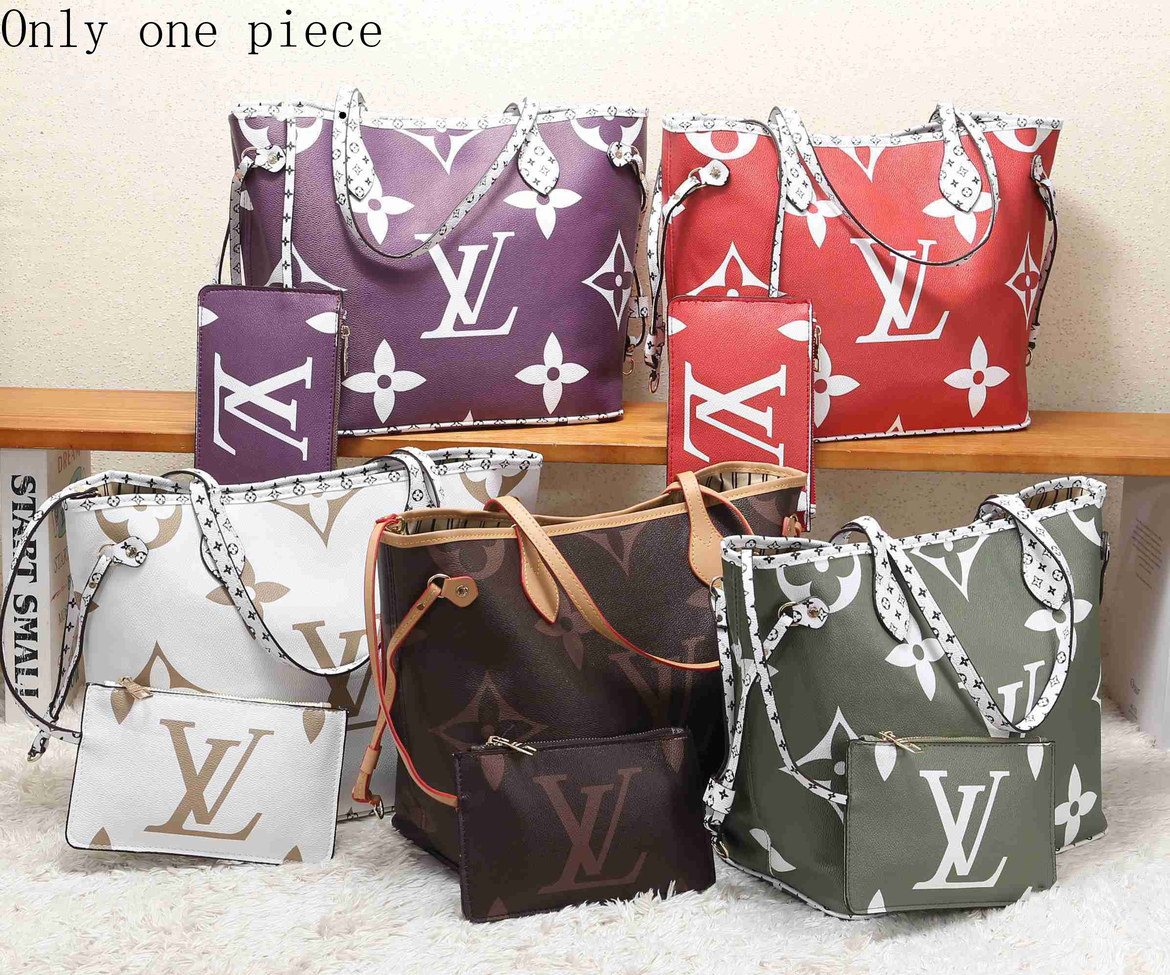 Image of LV Selling Fashion Colour-Coloured Full-Printed Single Shoulder Bag Two-piece Set for Ladies
