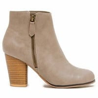 Bootie - Taupe