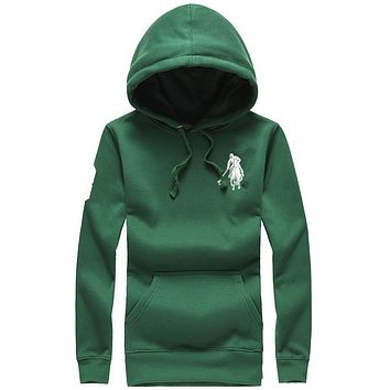 POLO: long sleeved blouse Hooded Fleece loose Wei