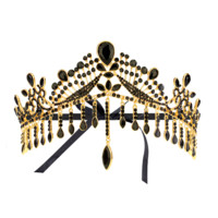 URSULA. GOLD CRYSTAL CROWN