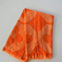 vintage mod orange terry hand towel