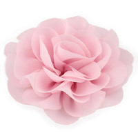 Newborn Chiffon Petals Poppy Flower Hair Clips Rolled Rose Fabric Hair Flowers For Baby Girls Hair Accessories