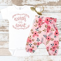 Rose Gold Worth The Wait Newborn Outfit