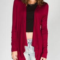 Full Tilt Essential Womens Lightweight Wrap Burgundy  In Sizes