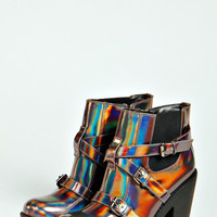 Maddy Holographic Buckle Chunky Boot
