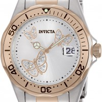 12504 - INVICTA Pro Diver Lady 38mm Stainless Steel Rose Gold + Stainless Steel Metallic White dial PC32A Quartz
