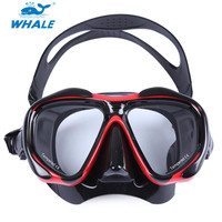 WHALE Diving Mask With Myopia Lens Professional Scuba Glasses Goggles For Underwater Snorkel Swimming Set Accessories Equipment
