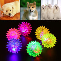 Free shipping 1pcs Dog Puppy Cat Pet Hedgehog Ball Rubber Bell Sound Ball Fun Playing Toy Hot Worldwide Brand New