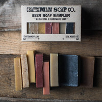 Beer Soap Sample Set // Natural, Handmade, and Vegan // Scented with Essential Oils & Extracts // Gifts for Men