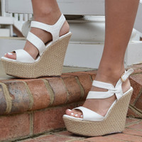 Klenny wedge, white