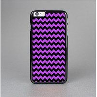 The Black & Purple Chevron Pattern Skin-Sert for the Apple iPhone 6 Plus Skin-Sert Case