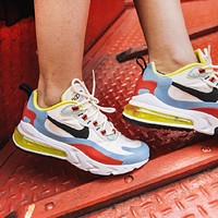 Nike Air Max 270 React Women New Fashion Contrast Color Sports Leisure Running Shoes