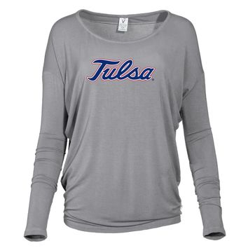 Official NCAA University of Tulsa Golden Hurricane - PPTLS06 Women's Loose Pico Top