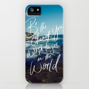 Be the Change iPhone & iPod Case by Leah Flores Designs