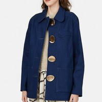 Opening Ceremony Washed Denim Barn Jacket - WOMEN - Outerwear - Jackets and Coats - Opening Ceremony