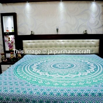 Madhu International 90-Inch by 108-Inch Mandala Tapestry, Queen, Multi Color