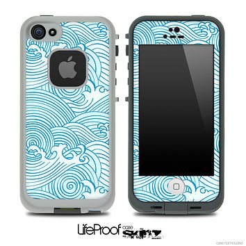 Seamless Blue Waves Skin for the iPhone 5 or 4/4s LifeProof Case