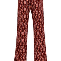 Mother of Pearl Brent Printed Wool Pants Red