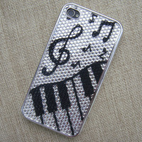 C172 Black and White Music Fun Case for iPhone 4/4S