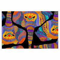 "Pom Graphic Design ""The Elephant In The Room"" Rainbow Tribal Decorative Door Mat"
