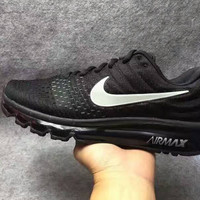 """""""NIKE"""" Trending Fashion Casual Sports Shoes AirMax section Black"""