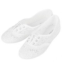 TWISTER Crochet Lace Up Pumps - View All - Shoes - Topshop USA