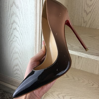 women shoes high heels patent leather women pumps pointed toe sexy ladies stiletto wedding shoes woman 120mm