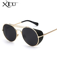 Round Frame Sunglasses Men Metal Coating Glasses Vintage  Men Sun glasses Fashion Summer