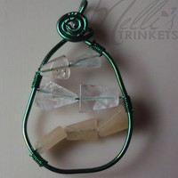Melli's Trinkets | Green Pear Pendant | Online Store Powered by Storenvy