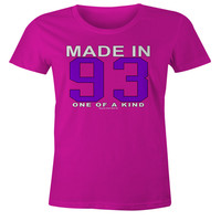 23rd Birthday Gift T-Shirt - One of a Kind - Born in 1993 Short Sleeve Womens T-Shirt