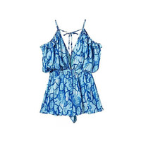 BLUE PRINTED PLAYSUIT (3 colors)