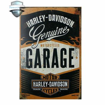 Vintage Home Decor MOTORCYCLES GARAGE Vintage Tin Signs Retro Metal Plate Painting Wall Decoration Custom Neon Sign Parking Sign