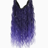 """Uniwigs® 20"""" Ombre Purple Curly Heat Friendly Synthetic Flip & Clip in Hair Extension"""