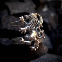 Carpe Diem 925 Sterling Silver Griffin Rings by carpediemjewellery