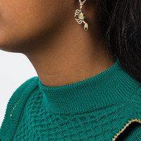 Yvonne Léon Embellished Drop Earring - Farfetch