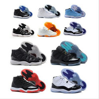 Best 2016 retro 11 bred concord Space Jam Legend gamma blue XI men basketball shoes sneakers 11 retro Outdoor sports shoes all sizes