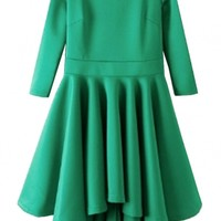 Charming Stacked High-Low Dress - OASAP.com