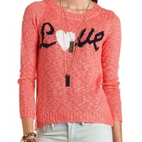 """""""Love"""" Hi-Low Pullover Sweater: Charlotte Russe"""