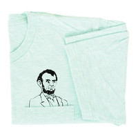Mens Pocket Abe Tee | Heather Sea Foam Green